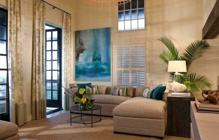 GroBartig Wohnideen Wohnzimmer Lange Gardinen Und Pflanzendeko | Interieur |  Pinterest | Modernes Wohnen, Lange Gardinen Und Wohnideen Wohnzimmer