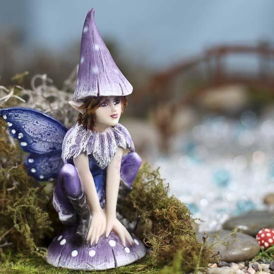 Gentil Purple Fairy Garden Figurine #fairygarden
