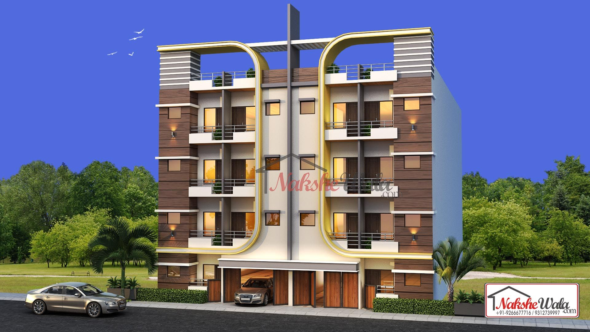 Multi Storey Elevation · Indian House DesignsFloor Plans OnlineDesign ...