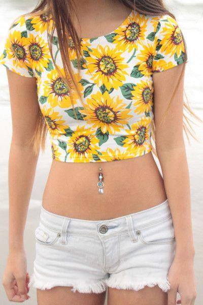 809716f05cdb Sunflower Crop Top