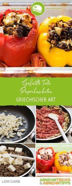 Low Carb gefüllte Feta Paprika Schoten griechischer Art #steakfajitarecipe