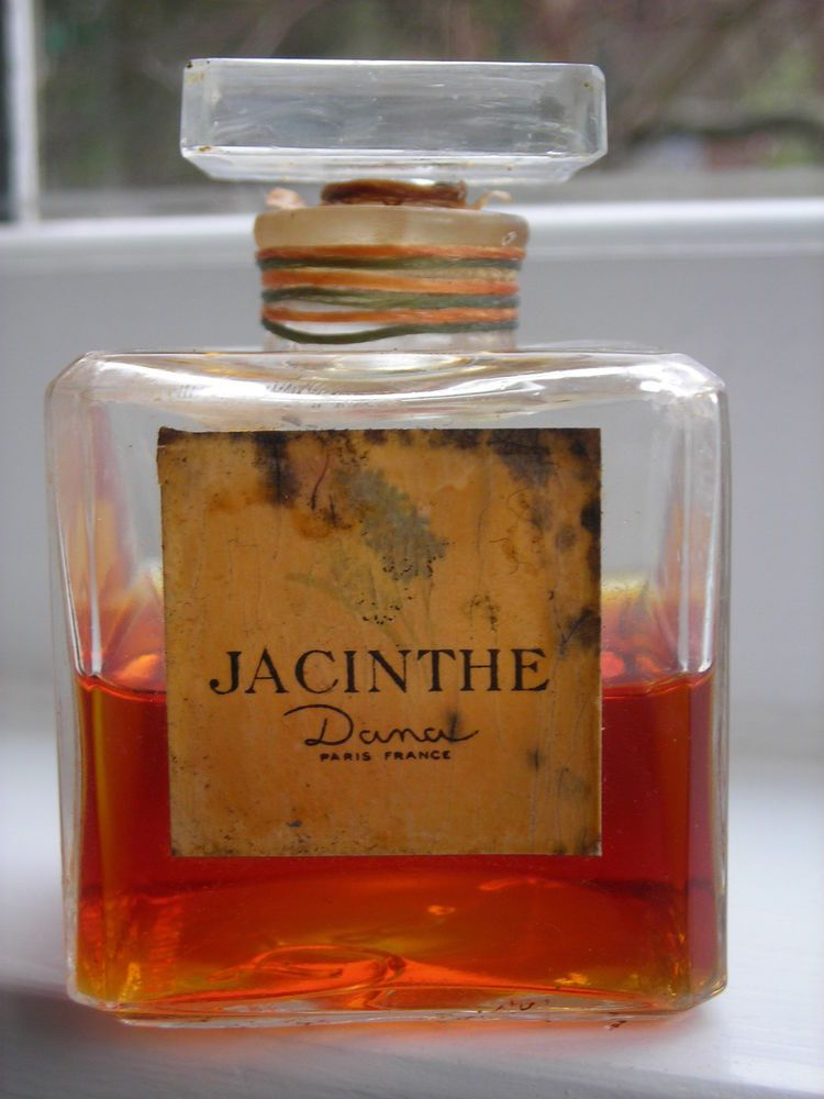 Very rare Jacinthe hyacinth perfume by Dana, still sealed, 2.5 inches tall