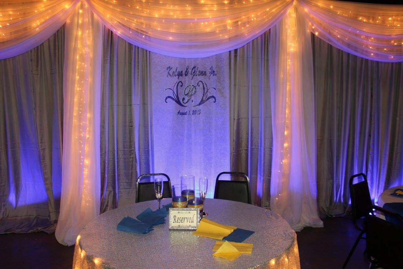 Wording Backdrop Party Rentals Wedding Venues