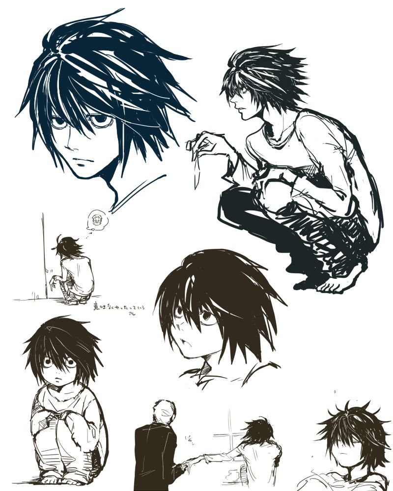 Pin By 立安 黃 On Death Note In 2020 Death Note L Drawings