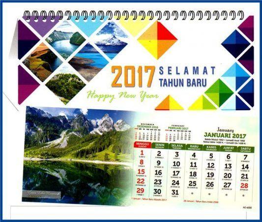 Desain kalender meja 2017 katalog AO terbaru siap diorder ...