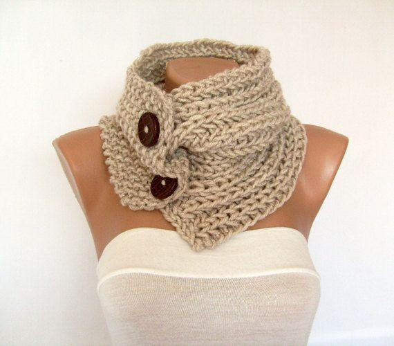À la main, bouton col en tricot, foulard, écharpe, grosse maille,  cache-cou, pour hommes, femmes, personnalisé en tricot écharpe, des cadeaux  pour lui, ... 11c1cd61ca6