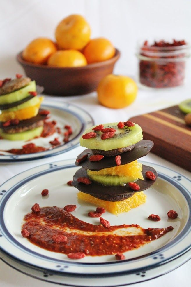 This Rawsome Vegan Life: spiced chocolate layered with kiwi, figs & orange