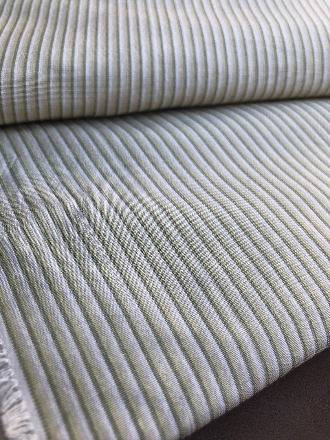 Precut 7 Yards 60 Wide Striped Pattern 100 Silk Green White Medium Weight Woven Fabricask A Question With Images Woven Fabric Green White Woven