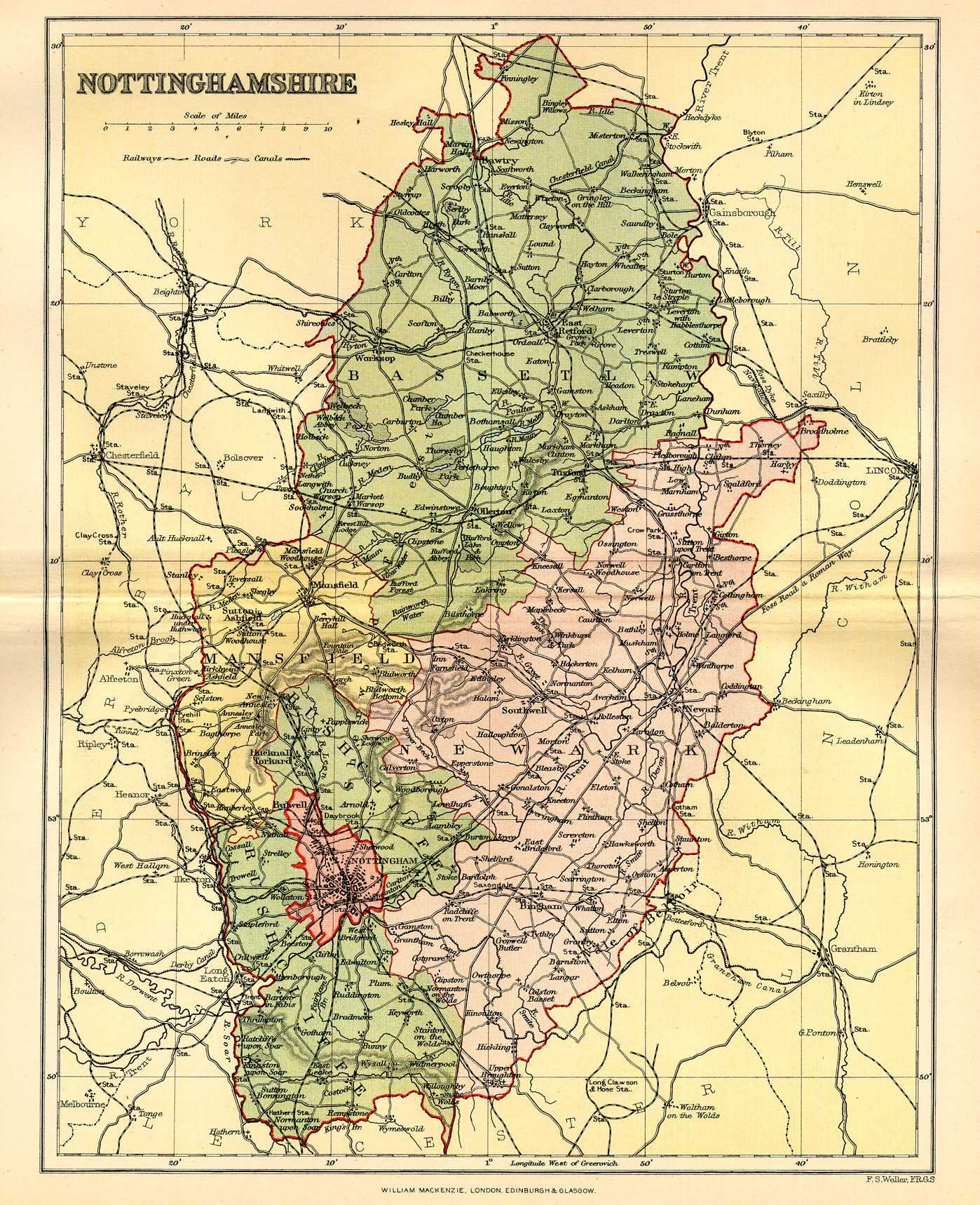 Nottingham map maps vintage Pinterest