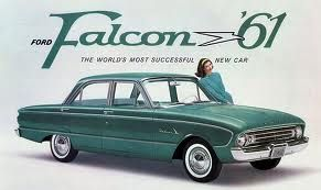 1961 ford falcon advertisment I learned to drive in these car
