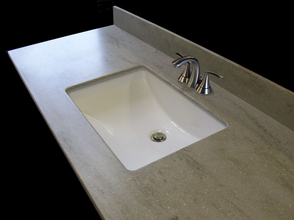 Corian Bathroom Vanity Tops : Bathroom vanity top in corian sagbrush found on nantucket