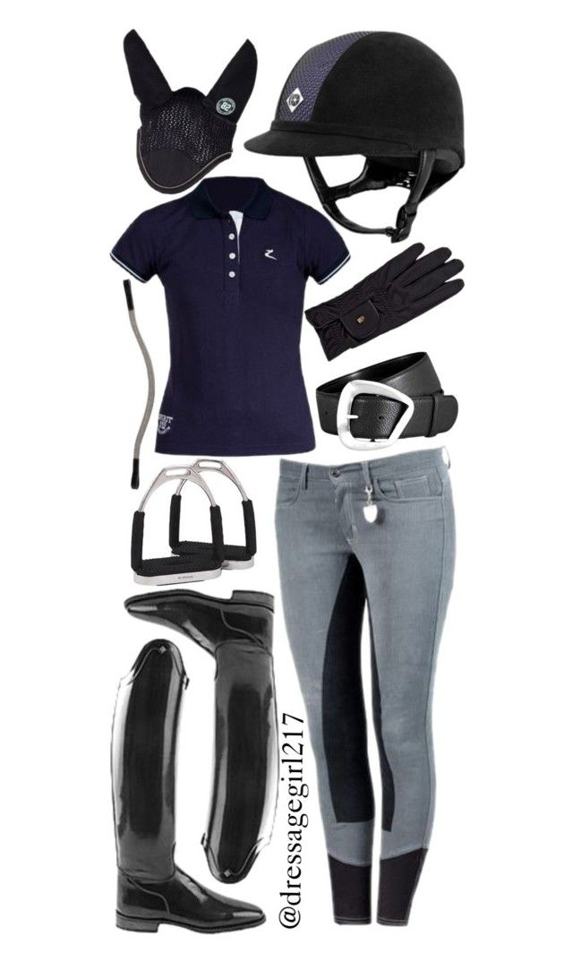 """Gray Denim Breeches"" by dressagegirl217 ❤ liked on Polyvore featuring Roeckl"