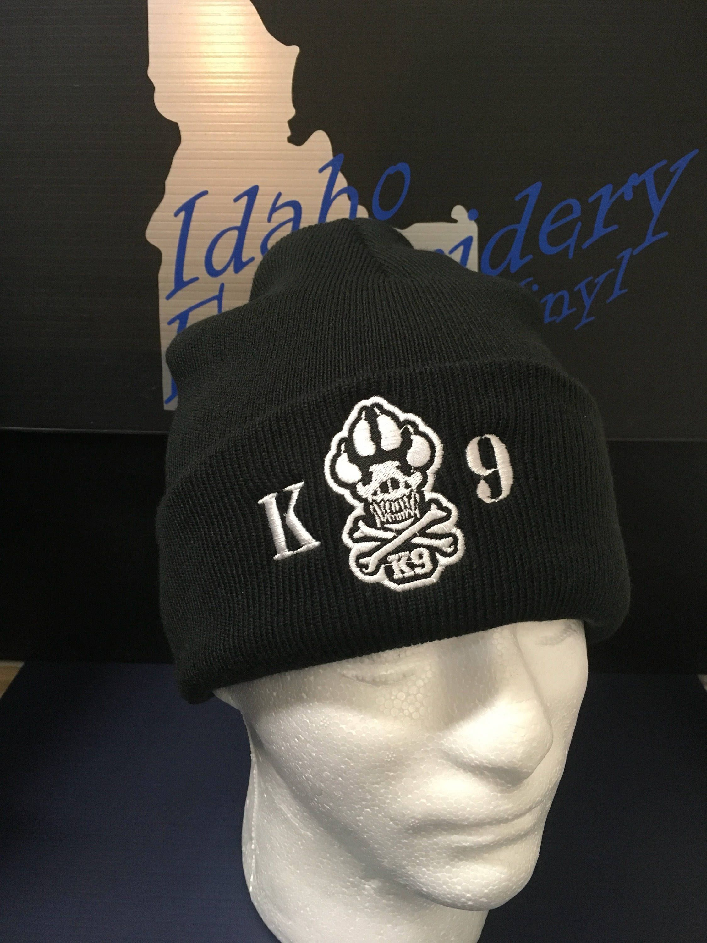 47f088c7d8c K9 embroidered beanie