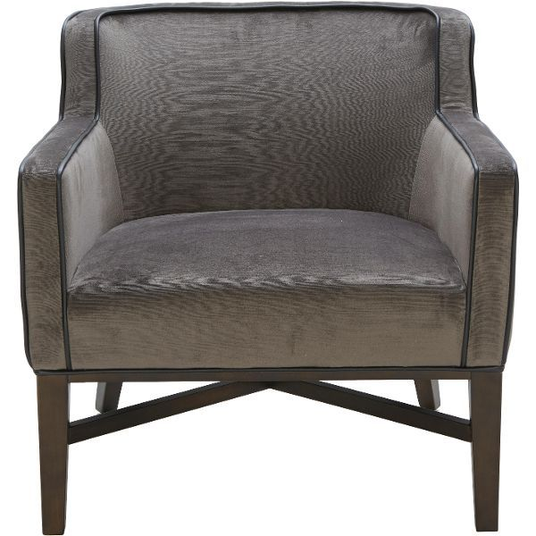 Charcoal Gray Leather Chair - Kuka Collection