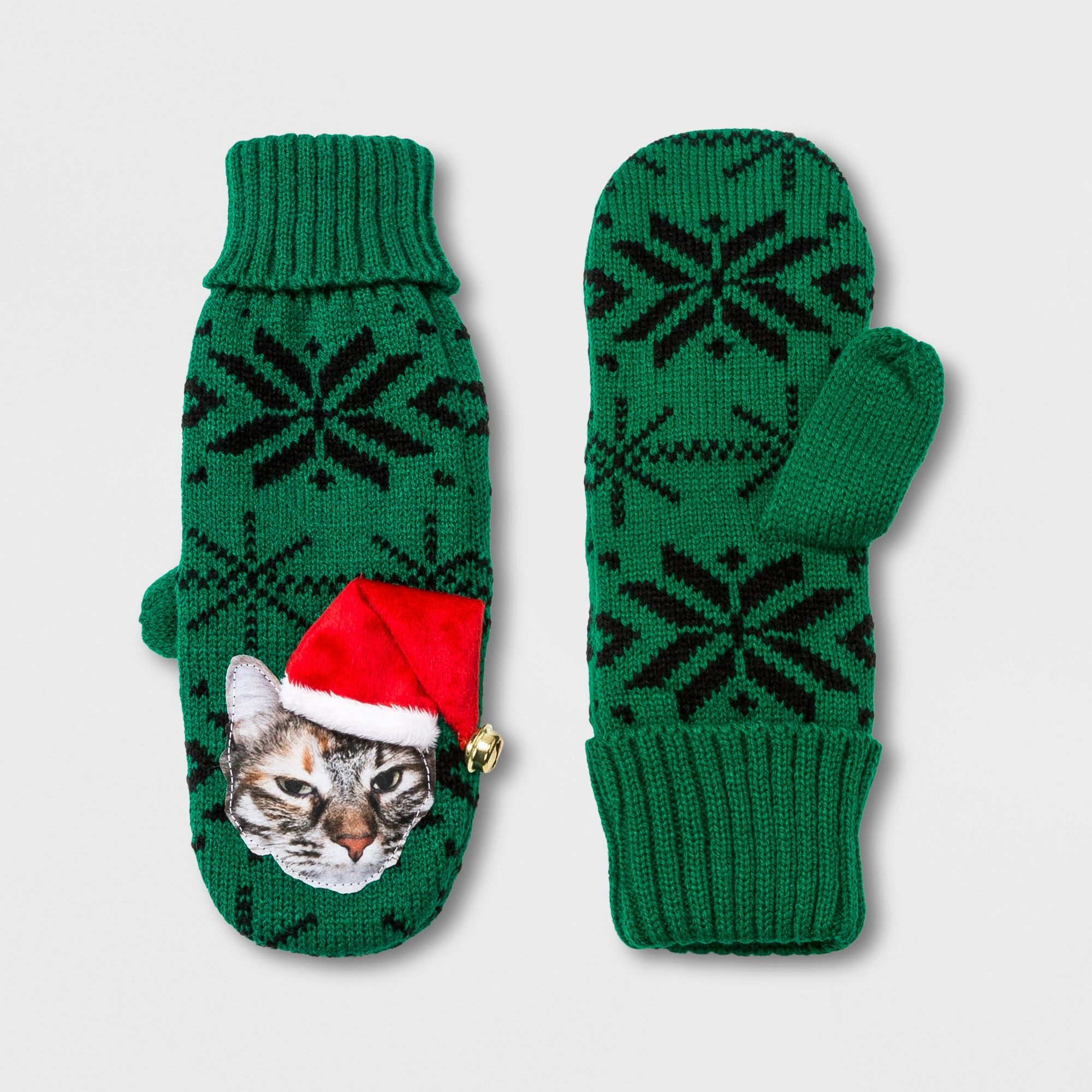 e4256a747 Women's Cat Mitten - Green, Size: One Size | Products | Mittens ...