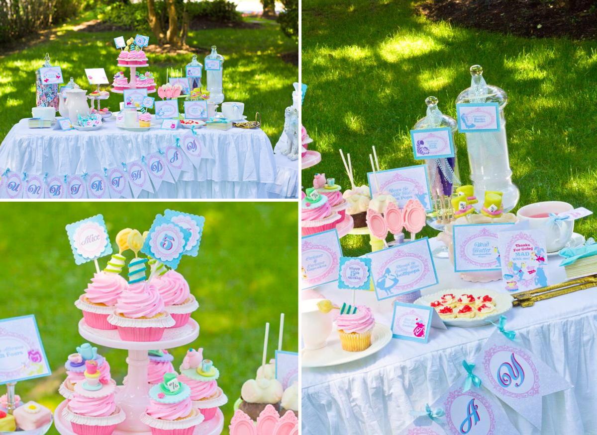 Birthday table decorations for girls - Girls Tea Party Ideas Kids Party Hub Summer Party Themes And Ideas For Girls