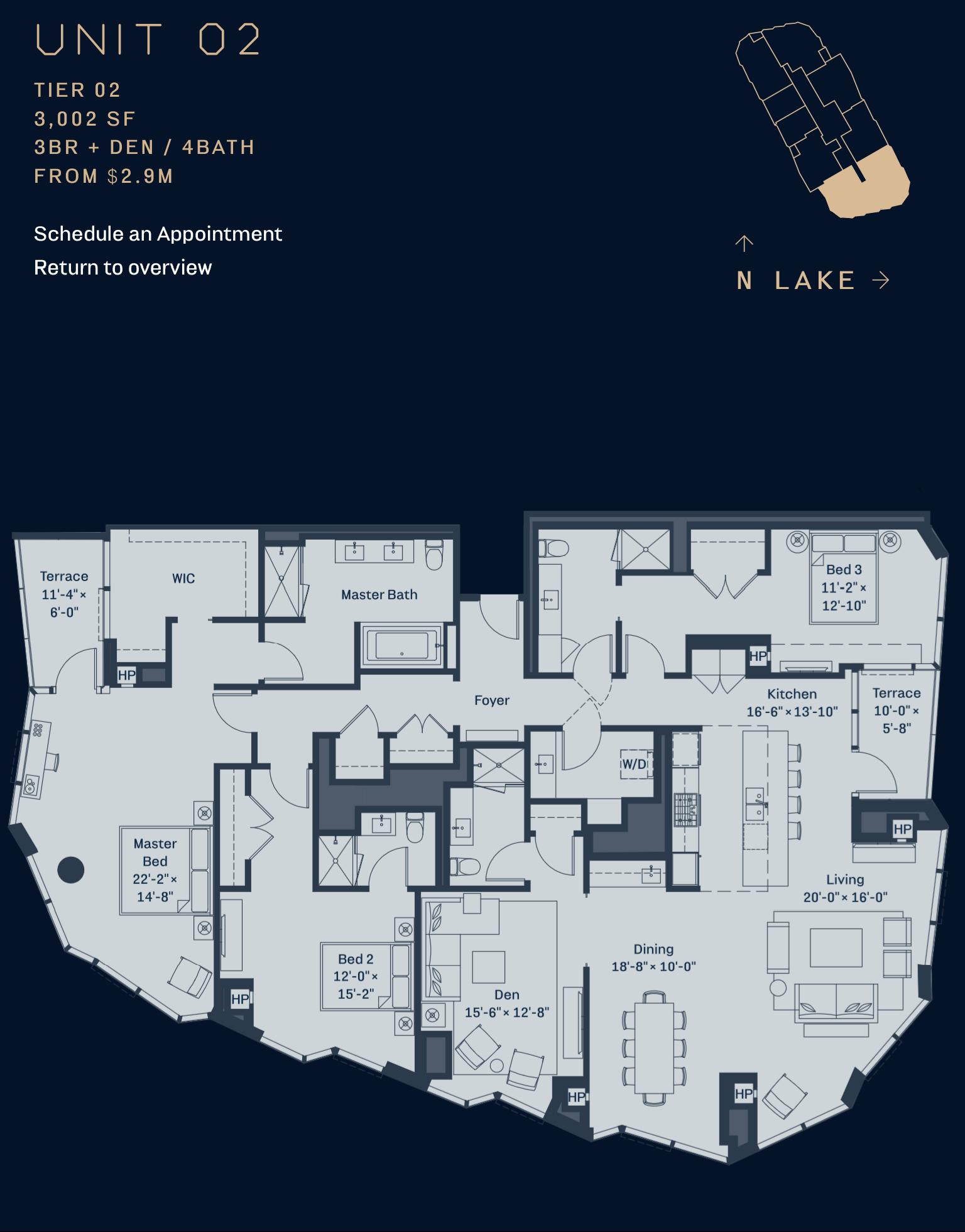 Cirrus Condominiums Lakeshore East Chicago In 2020 Apartment Floor Plans How To Plan Floor Plans