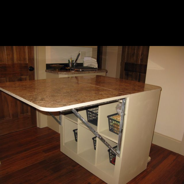 cutting table extended the hinges are awesome sewing spaces pinterest room sewing rooms. Black Bedroom Furniture Sets. Home Design Ideas