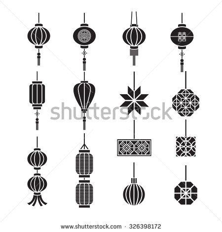 Chinese lamp,lantern vector set | CHINESE HSE | Pinterest ...
