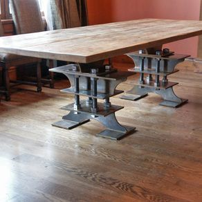 Industrial Dining Table By Alec Haggerty