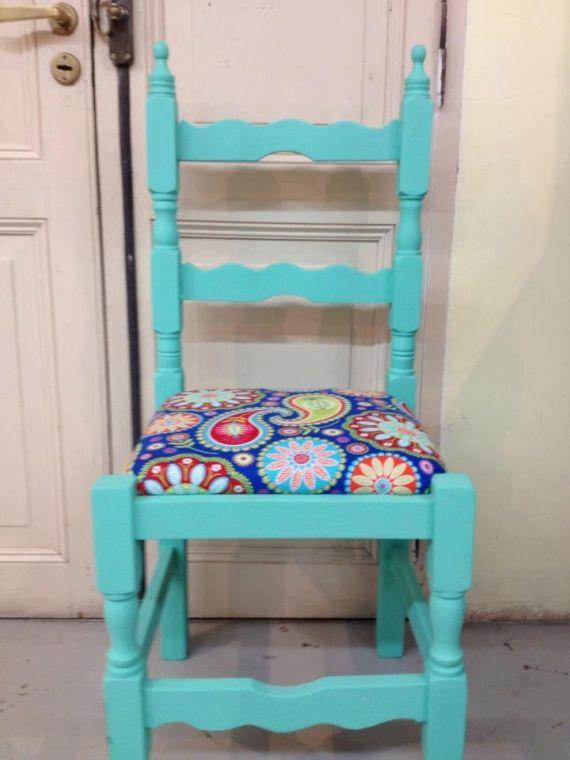 Silla madera restaurada pr sillas muebles artesanales for Quiero ver sillas