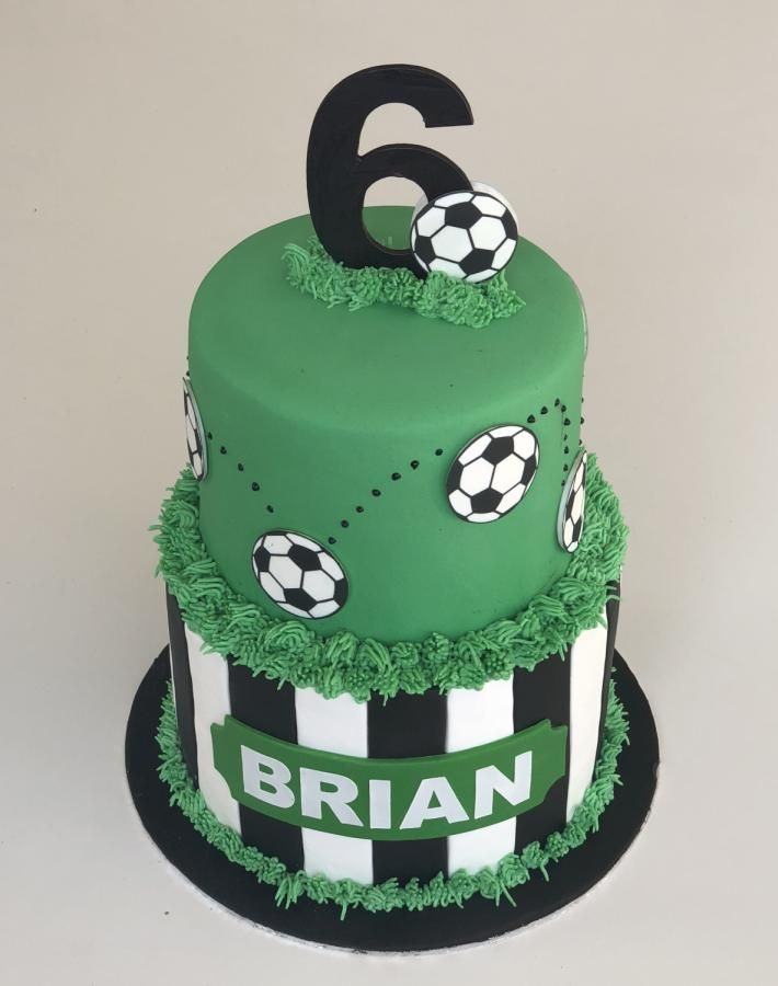 Soccer Time By Rhona With Images Soccer Birthday Cakes
