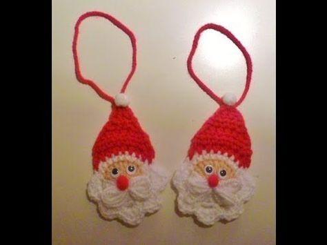 weihnachten - nikolaus häkeln - weihnachtsmann - anhänger - santa claus - baumanhänger - youtub