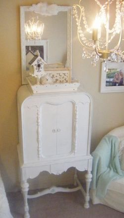 Vintage radio cabinet becomes shabby chic after being given a ...