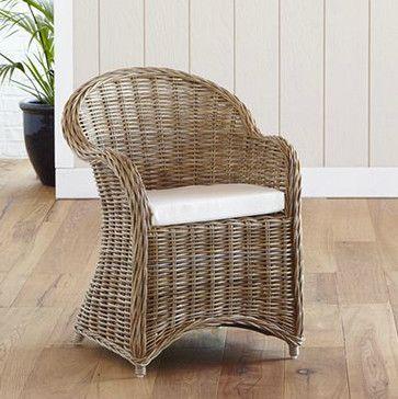 Kooboo Wicker Chair Gray Traditional Outdoor Chairs
