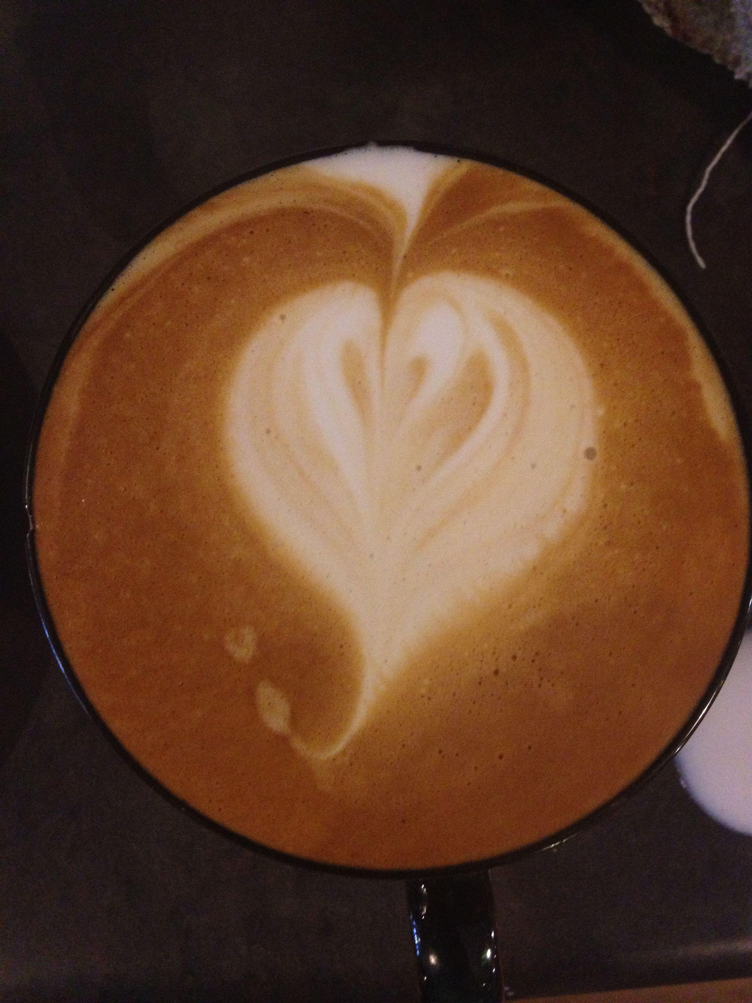 My latte art at The Coffee Company, Elizabethton ...