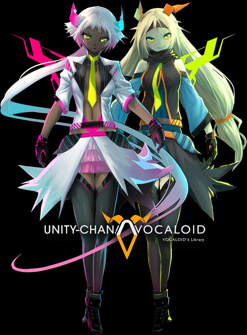 Anime Characters Unity : Vocaloid unity chan azaku left otori kohaku right