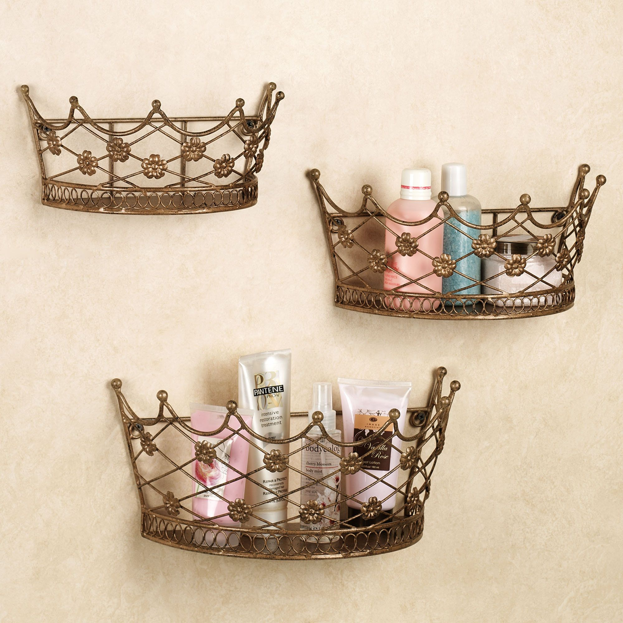 Decorative Crowns Home Decor Home Ivetta Crown Wall Planter Set