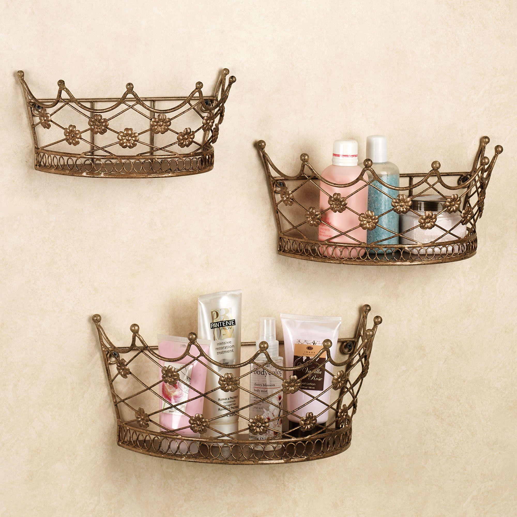 Ivetta Crown Indoor Outdoor Wall Planter Set Crown Wall Decor Crown Decor Baskets On Wall