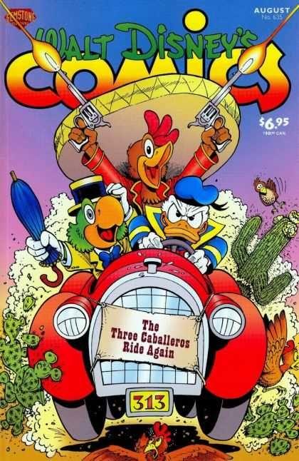 Donald Duck - Pistols - Umbrella - Three Caballeros - Ride Again - Keno Rosa