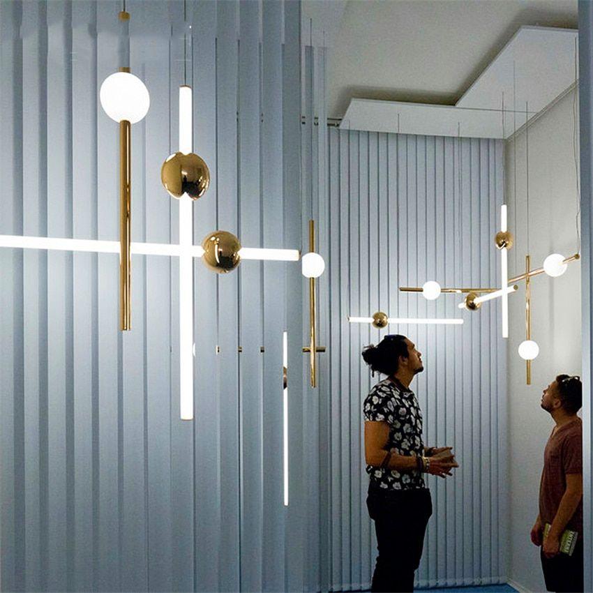 Modern Orion Tube Pendant Lights For Living Room Gold Led Hanging Lamp Bedroom Kitchen Home Loft Industrial Decor Light Fixtures Pendant Lamps Bedroom Living Room Lighting Bedroom Lamps