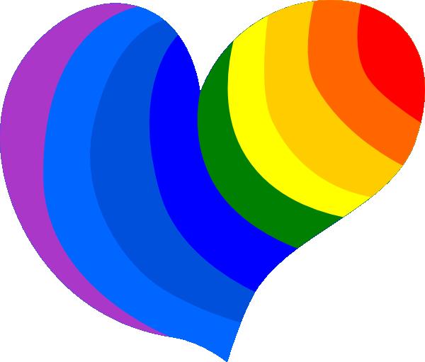 heart rainbow picture rainbow heart clip art nicole pinterest rh pinterest ca clipart of rainbow and tea cups
