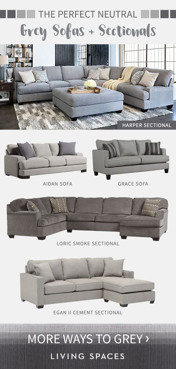 Grey Sofas Sectional Sofas Are The Perfect Neutral Piece For Any Living Room From Light Grey To Charcoal Bro Couches Living Room Living Room Sectional Home