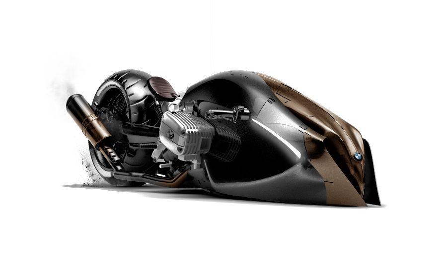 A Custom Motorcycle Concept Suitable For A Future Batman Flick