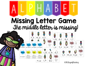 Missing Letter Alphabet Game  Middle Letter Games And Gaming
