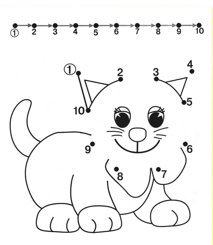 dog dot to dot coloring pages for kids coloring pages