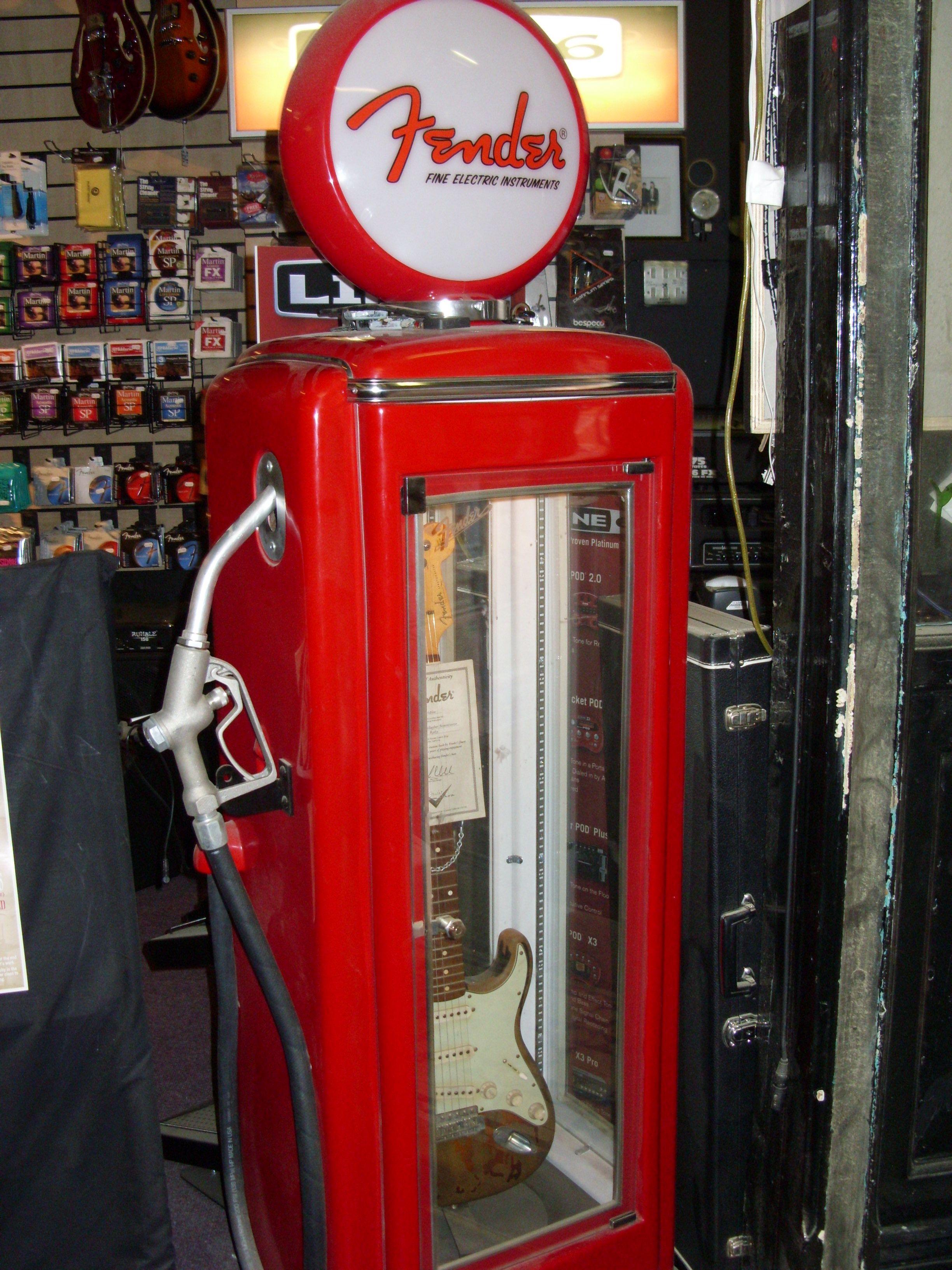 Guitar Display Cabinet In Dublin Music Store