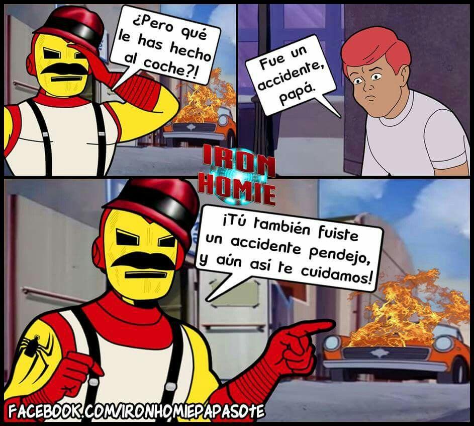 ab2dfd2b8b31dd88395f5b050328bb25 jajajajaja spidercholo, iron homie and baticholo pinterest meme