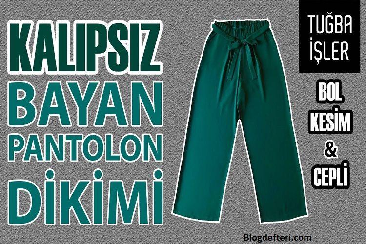 Le pantalon le plus facile du monde – Fabrication de pantalons sans motif – Pantalon de couture pour débutants   – Kendin yap moda