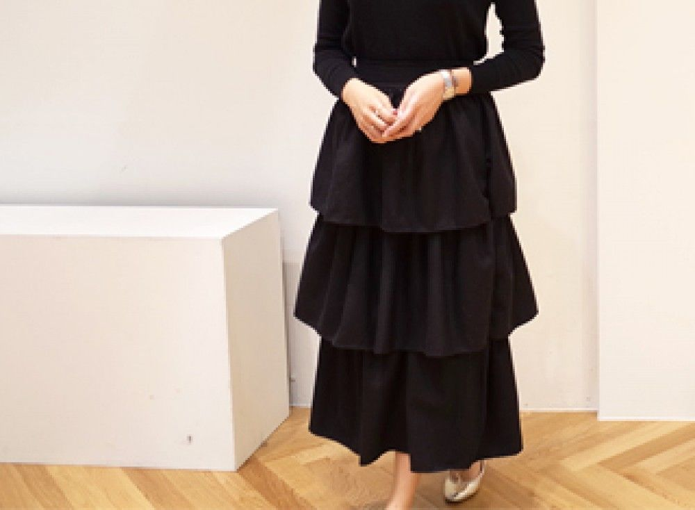 Boho Layering Pleat Skirt