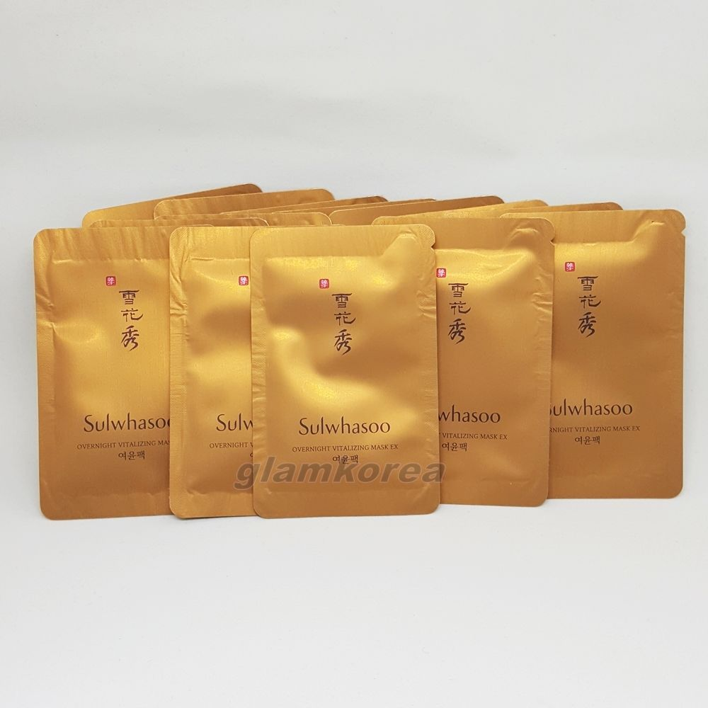 Sulwhasoo Overnight Vitalizing Mask Ex Pouch 25pcs Sleeping Water Laneige Sampel 4ml Amore Pacific