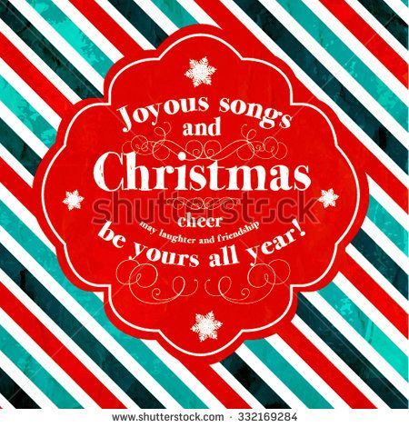 merry christmas and happy new year invitation joyous songs and christmas cheer may laughter and friendship be yours all year