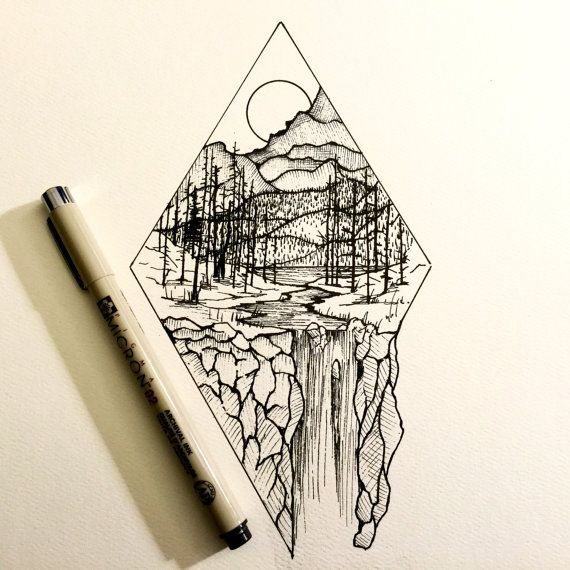 "Line Drawing With Fineliner And Pencils : Attēlu rezultāti vaicājumam ""simple fineliner drawings"