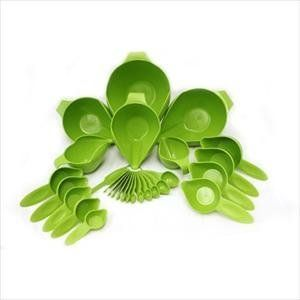 POURFect 27 Piece Bowl And Measuring Set (Green Apple): Amazon.com: Kitchen & Dining