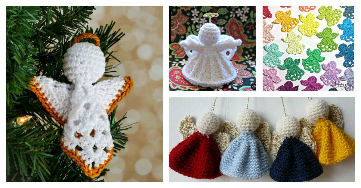 Christmas Angel Ornament Free Crochet Patterns | Christmas angel ...