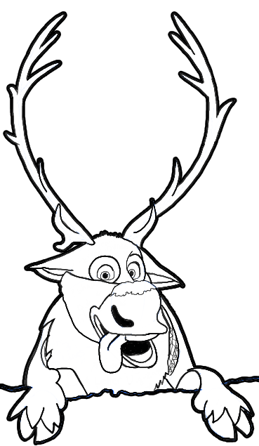 Sven coloring pages for kids